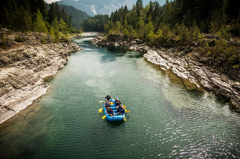 Rafters on the Middle Fork of the Flathead River.