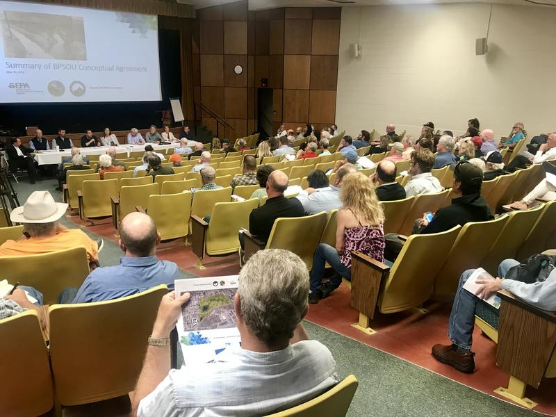 More than 100 people came to Montana Tech at noon on Wednesday to hear about the cleanup plan