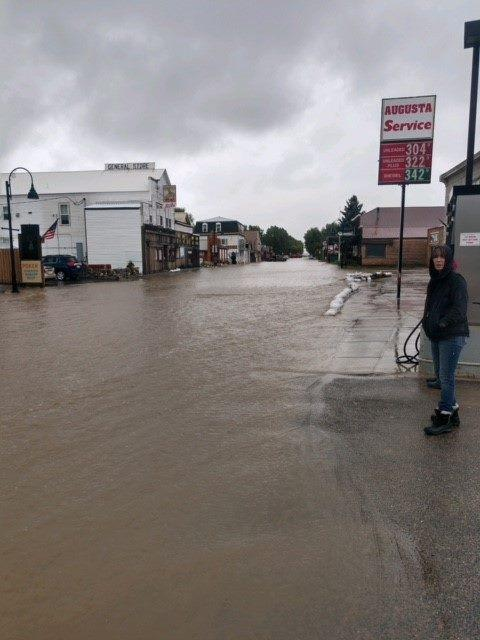 Flooding in Augusta, MT Tuesday, June 19, 2018.