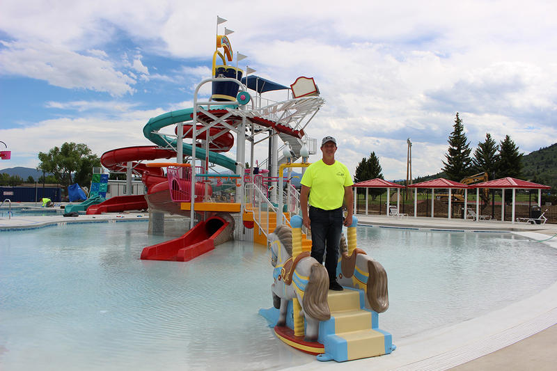 Butte-Silver Bow County's Parks and Recreation director J.P. Gallagher stands on a play feature designed to honor the carousel at the Columbia Gardens at Ridge Waters. June 25, 2018.