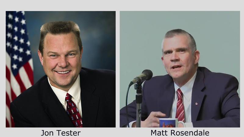Sen. Jon Tester (D) and challenger Matt Rosendale (R).