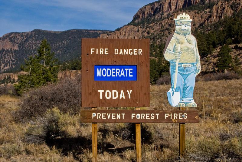 Fire danger sign.