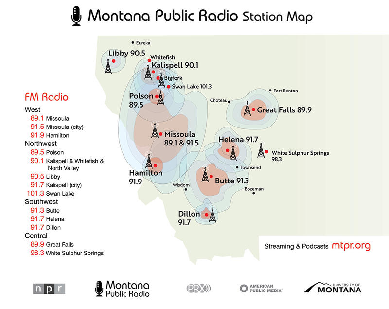 Montana Public Radio Station Map