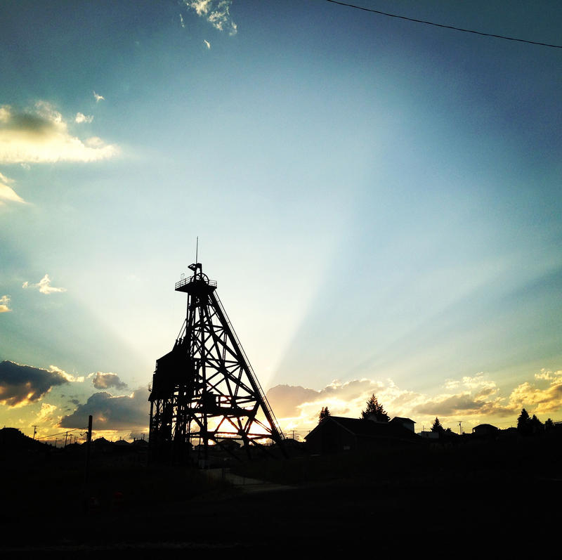 Headframe of the Original Mine in Butte