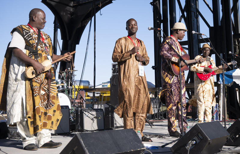 Mamdou Kelly Band from Mali, at the Original Stage in Butte, July 14, 2018.