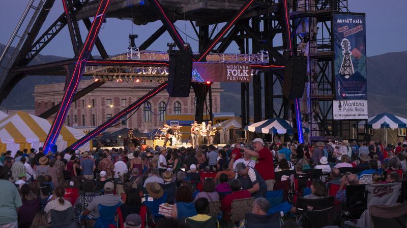 The Original Stage at the Montana Folk Festival in Butte, July 14, 2018.