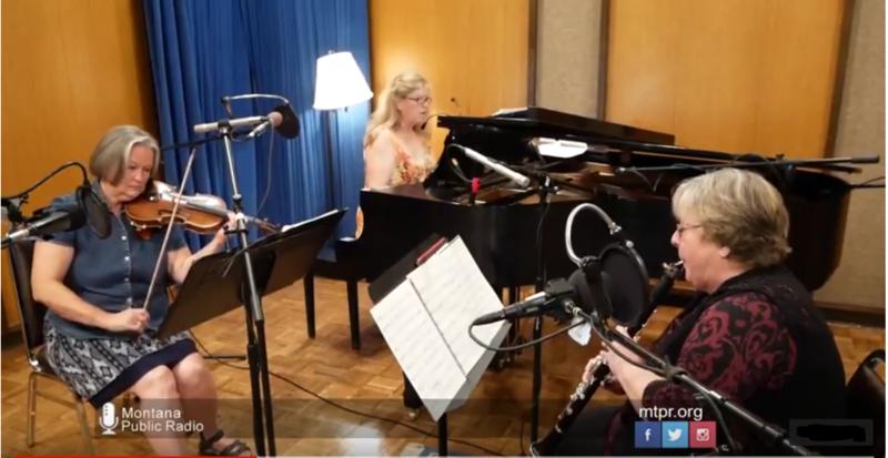 The Sapphire Trio at Montana Public Radio, July 6, 2018.
