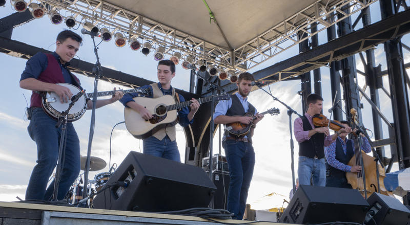 Shadowgrass at the Montana Folk Festival, July 14, 2018.Shadowgrass's members range from 13 - 21, but they play like seasoned pros.