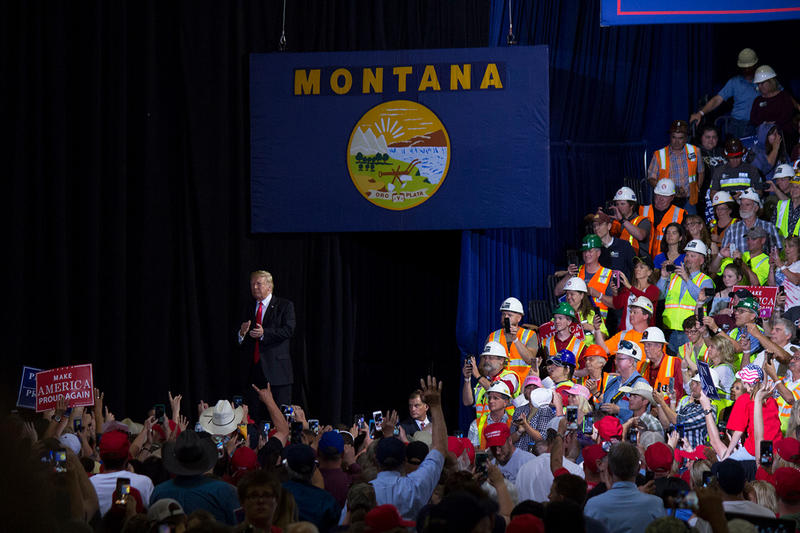 President Trump at his Great Falls, MT campagin rally, July 5, 2018.