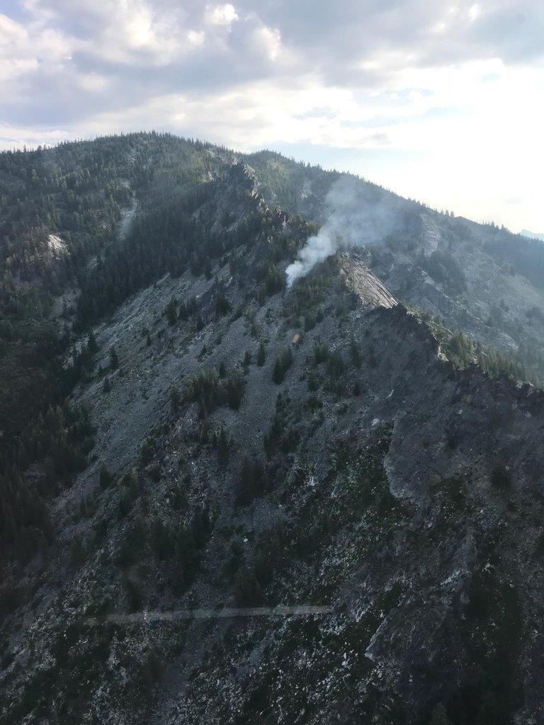 The lightning caused Mt. George Fire was discovered by a fire lookout Tuesday morning in the Selway-Bitterroot Wilderness.