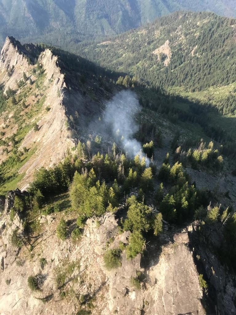 A fire discovered Tuesday on Mt. George in the Selway-Bitterroot Wilderness