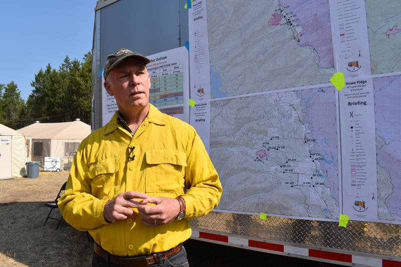 Rep. Gianforte visited the Howe Ridge Fire in Glacier National Park Wednesday, August 22, 2018.
