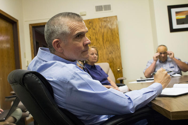 Republican U.S. Senate Candidate Matt Rosendale meets with the Montana Grain Growers Association in Great Falls, MT, August 21, 2018.