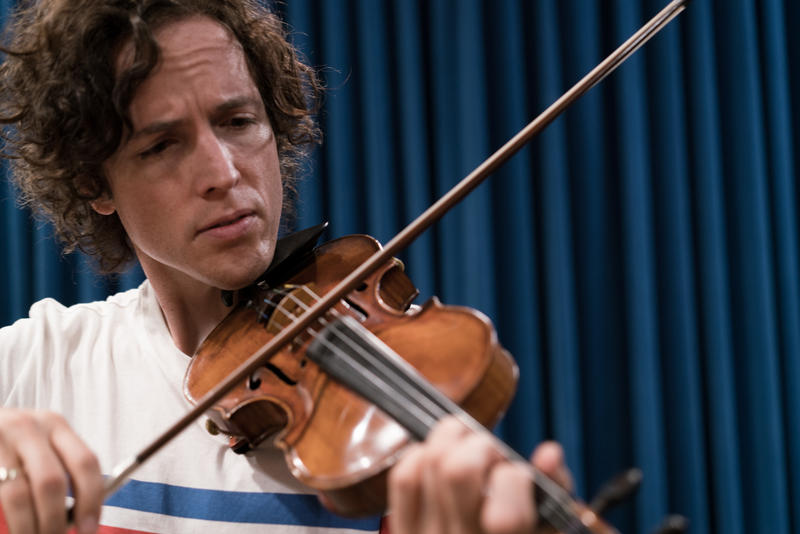 Tim Fain plays violin live at Montana Public Radio, August 6, 2018.