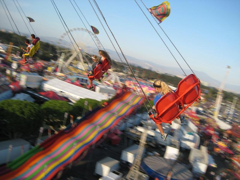 Carnival ride. Stock photo.