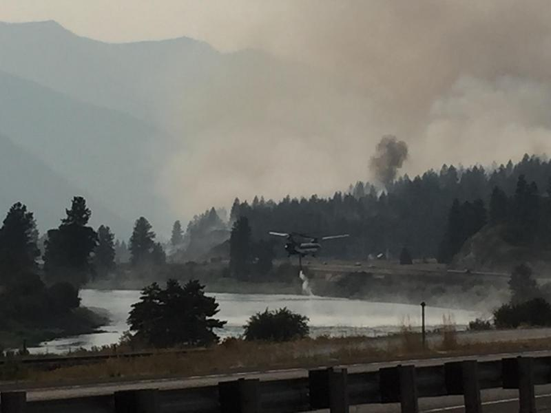 Helicopter operations on the Weeksville Fire west of Plains