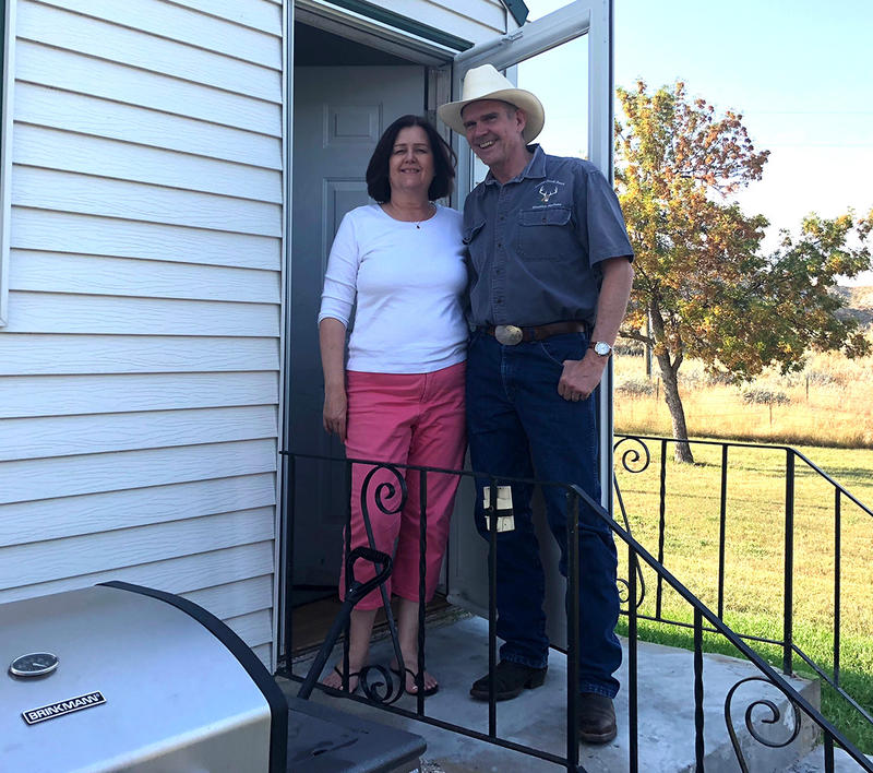 Montana Republican U.S. Senate Candidate Matt Rosendale with his wife Jean at their home in Glendive, MT.