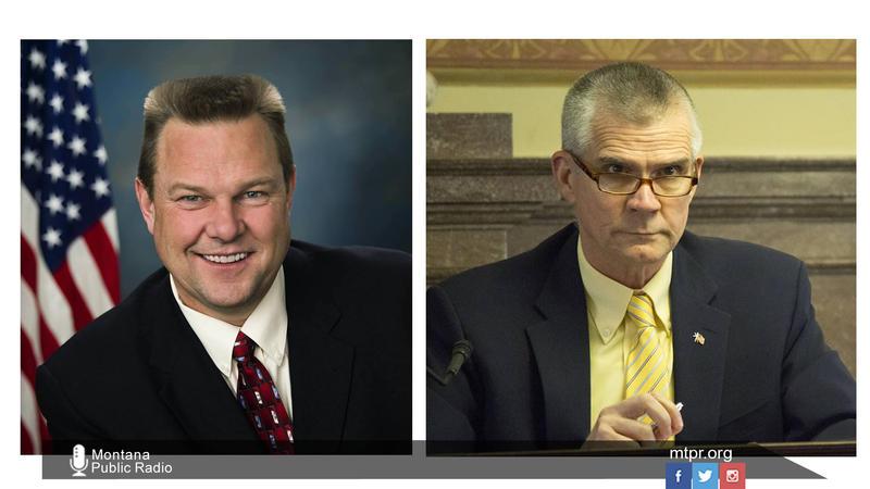 Sen. Jon Tester (D) and challenger State Auditor Matt Rosendale (R).