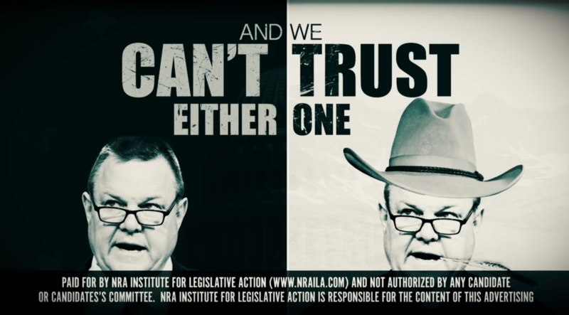 An NRA ad targeting Sen. Jon Tester.