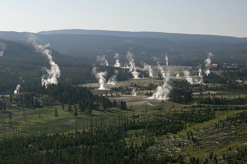 Yellowstone National Park's Upper Geyser Basin in June of 2006.