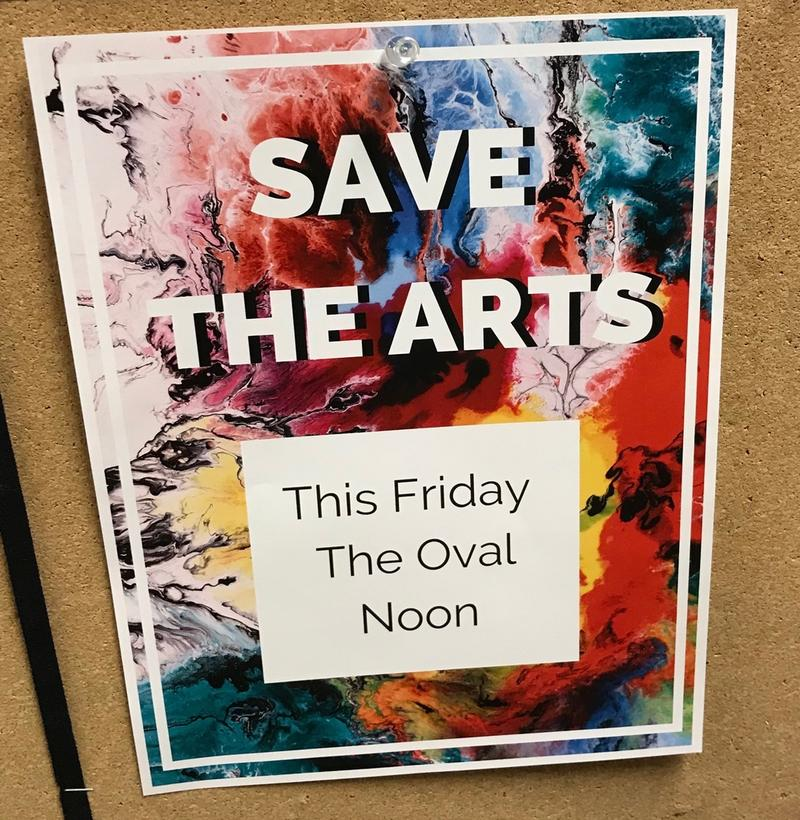 A flyer posted on a UM bulletin board Monday
