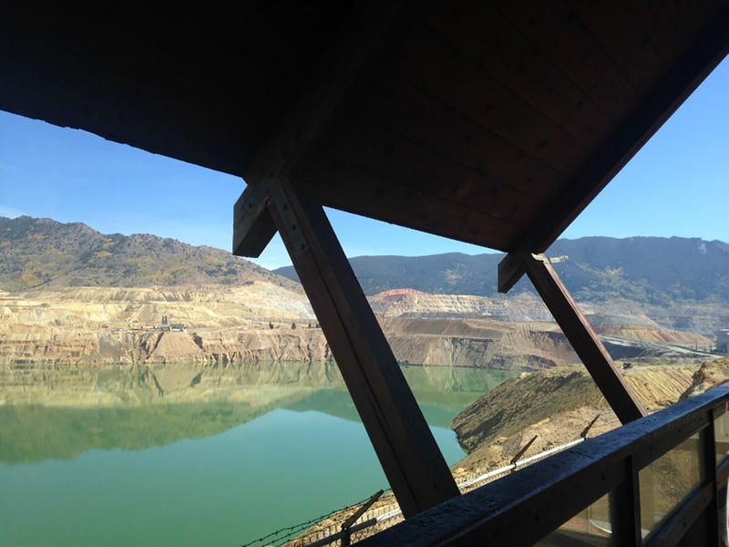 The viewing stand at the Berkeley Pit in September.