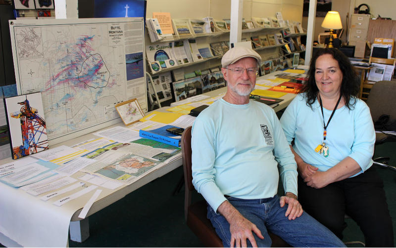 Bill MacGregor and Janice Hogan are the vice president and coordinator of the Citizens Technical Environmental Committee in Butte, seen in this photo from June 6, 2018.