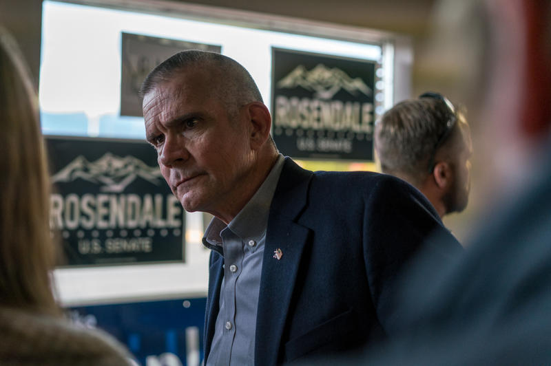 Republican Senate Candidate and State Auditor Matt Rosendale at Missoula GOP headquarters Monday