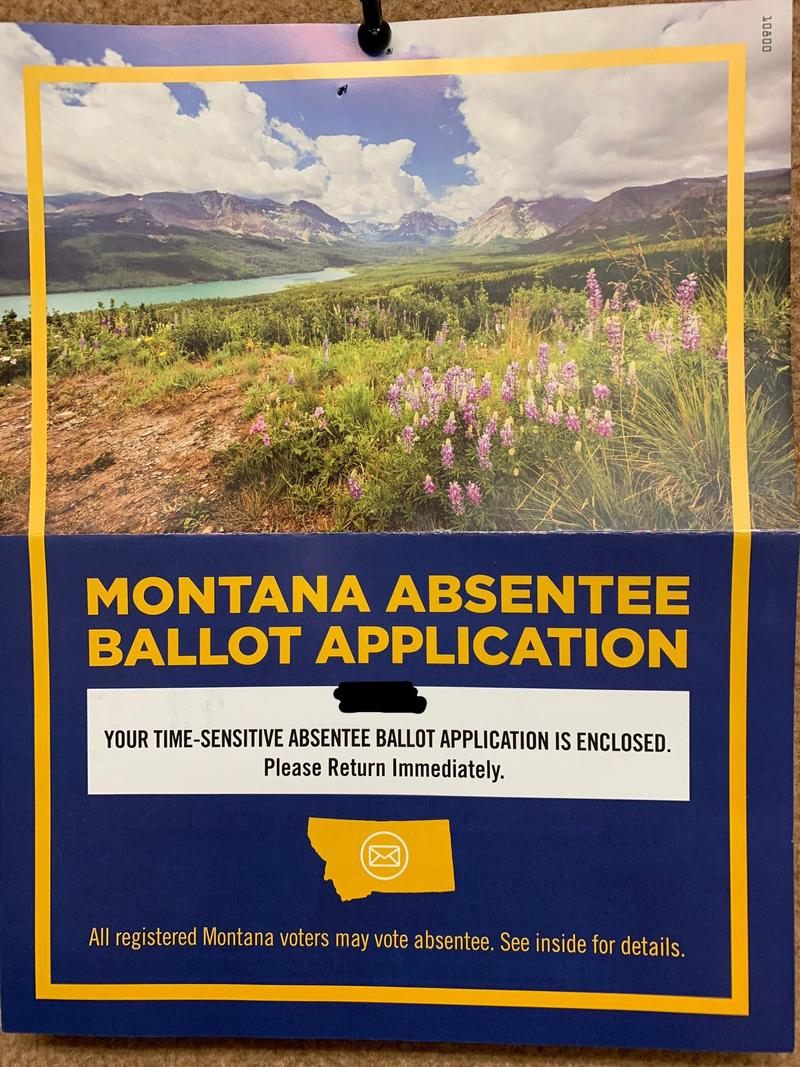 Montana absentee ballot application.