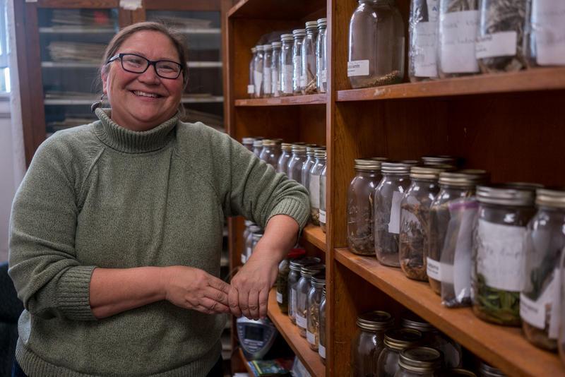 Rosalyn LaPier, associate professor of environmental studies, in her office at the University of Montana.