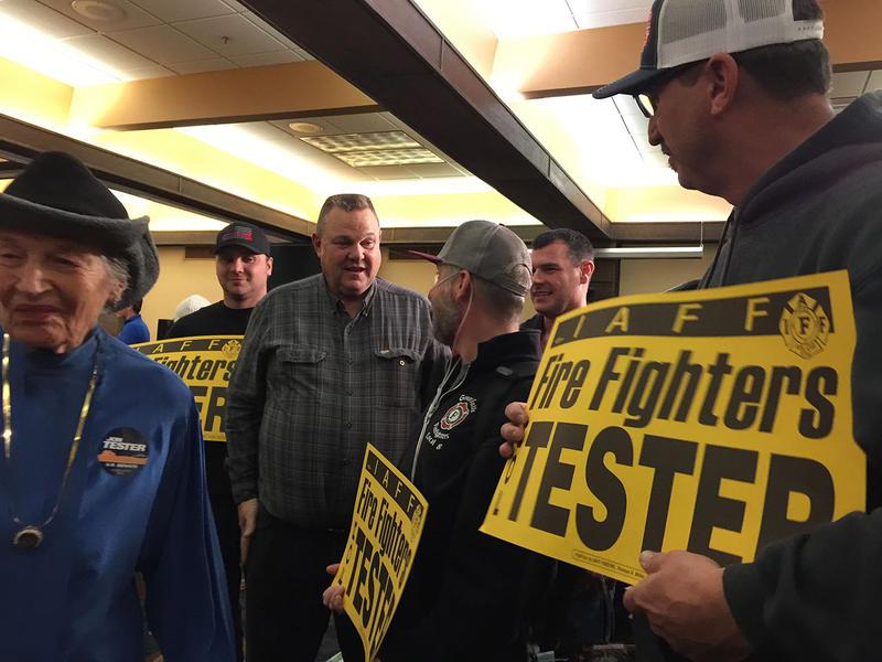 U.S. Sen. Jon Tester on election night. Nov. 6, 2018