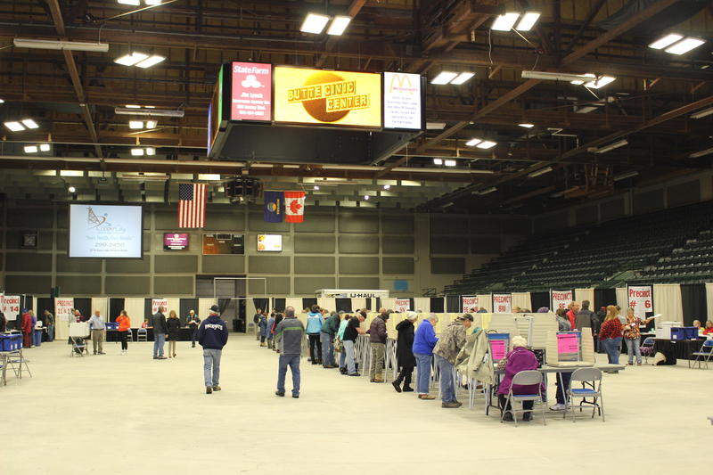 Voting at the Butte Civic Center early this morning