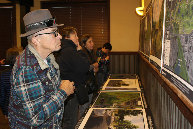 Butte locals took a close look at the master land use plan for the city's creek corridors at a meeting at Butte Brewing Company. November 1, 2018.