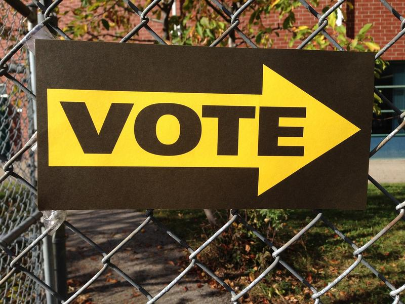 Vote sign. File photo.