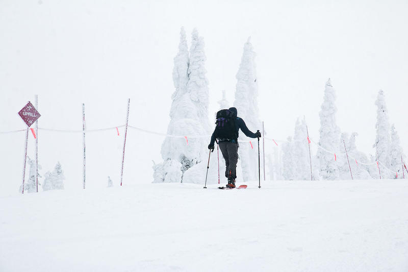 Uphill skiing has become increasingly popular at ski hills like Whitefish Mountain Resort.