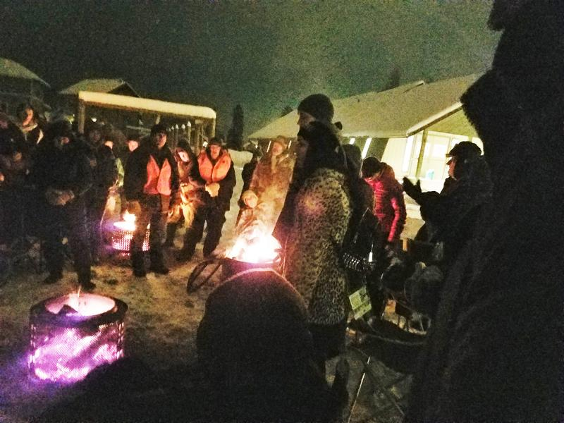 People camp out in Kalispell to raise awareness and funds for youth homeless services in the Flathead Valley in December 2017.