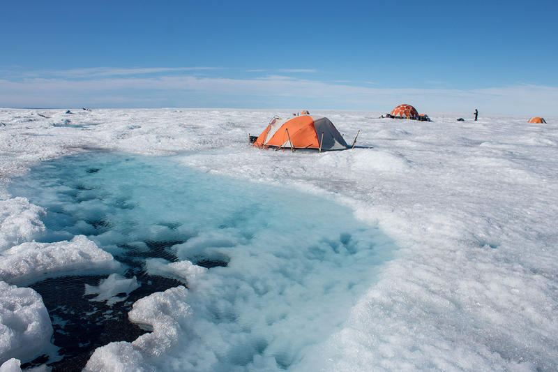 Camp on the Greenland ice sheet
