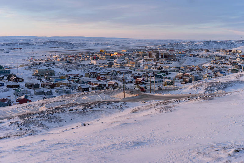 Iqaluit, the capital city of Nunavut, in far northeastern Canada