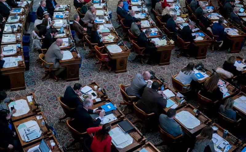 The House chamber at the Montana Legislature.