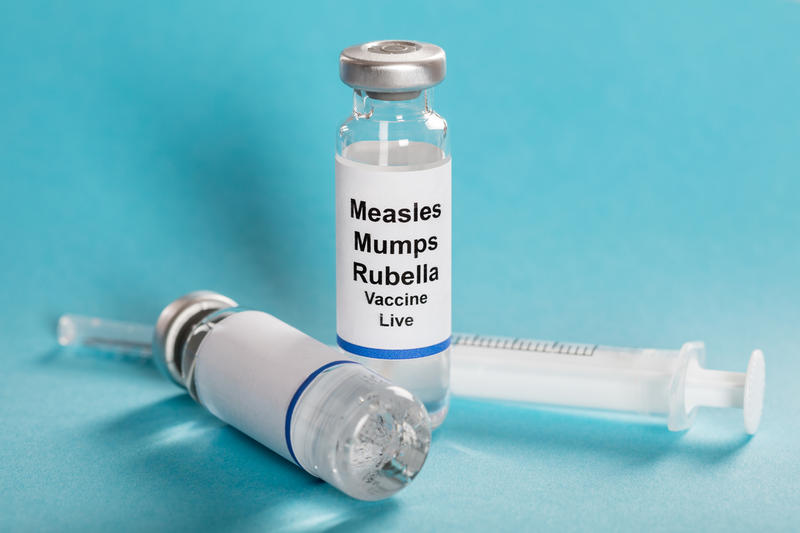 Measles, mumps and rubella vaccine.
