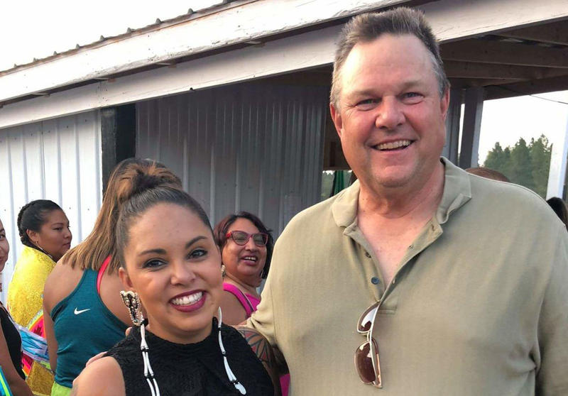 Briana Lamb and Senator Jon Tester