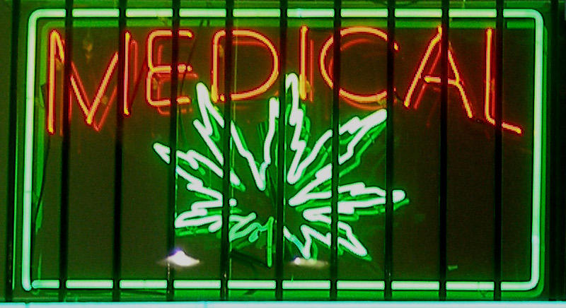Medical marijuana sign.