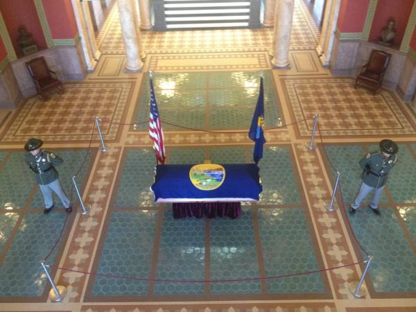 Betty Babcock was the first person to lay in state in the capitol rotunda since 1962