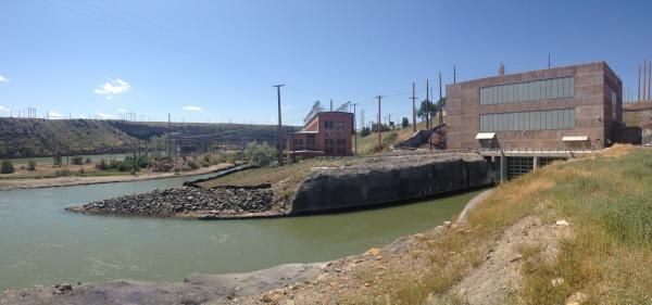 The new Rainbow Dam power plant generates 60 megawatts of electricity, the old plant (left) generated 36 megawatts.