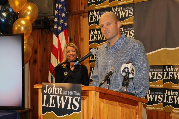 Sen. Max Baucus's former State Director John Lewis officially announces his run for U.S. House Monday at a Helena union hall.