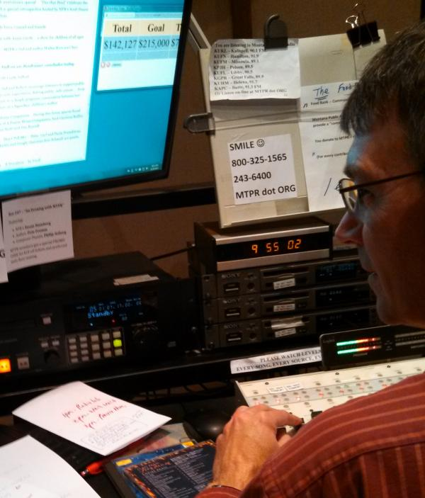 Smile! Michael Marsolek at the controls during Morning Classics.
