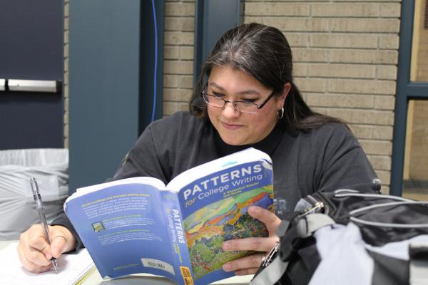 Helena College non-traditional student Susan Wensel gets her health insurance through her husband's job. Only about 220 of the institution's 1800 students opt for the insurance plan offered by the school.