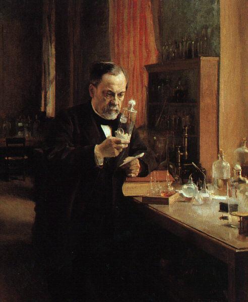 """""""Tableau Louis Pasteur,"""" by Albert Edelfelt in 1885. Musée d'Orsay, Paris. (CC PD)"""
