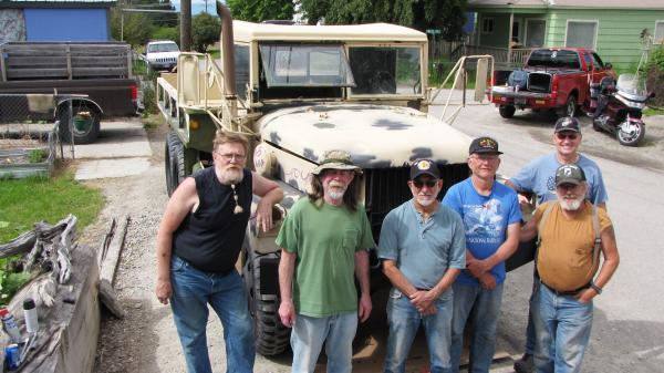 Members of the 1087, Northwest Montana Chapter of the Vietnam Veterans of America. President John Burgess on the far left.