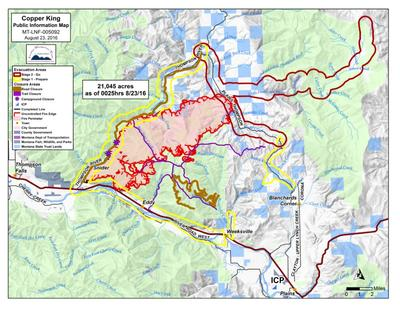 Spokane Complex Fire Map.Montana Wildfire Roundup For August 23 2016 Mtpr